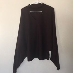 Maroon long sleeve baggy sweater